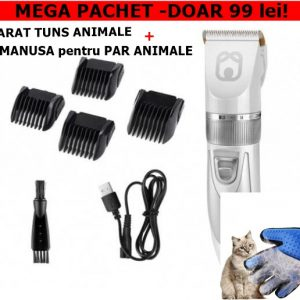 PACHET: APARAT TUNS ANIMALE+MANUSA PERIAT SI MASAT ANIMALE